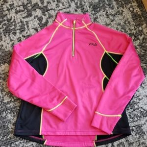 FILA Sport Pk/Blk Jogging Sweater with thumb holes